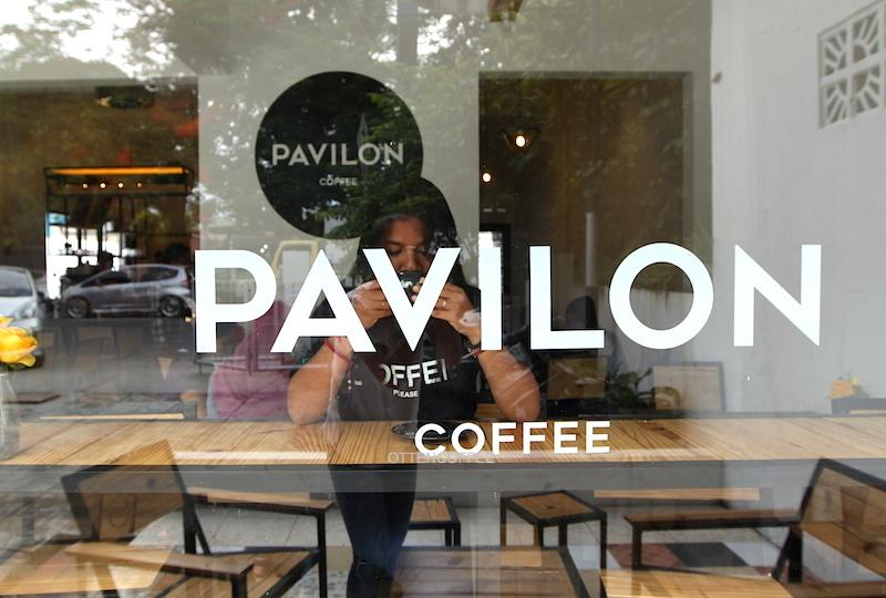 pavilon coffe padang